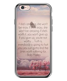 Another great find on #zulily! Black & Clear 'Worth Suffering' Quote iPhone Case #zulilyfinds