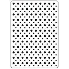 Darice® 4.25 x 5.75 Embossing Folder: Polka Dot