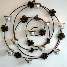 Butterfly wall sconce is is the perfect decoration to add a warm and pleasing ambiance to your garden or home. Iron Candle Holder, Lantern Candle Holders, Candle Stand, Aluminum Foil Art, Wrought Iron Decor, Iron Furniture, Iron Art, Candle Wall Sconces, Butterfly Wall