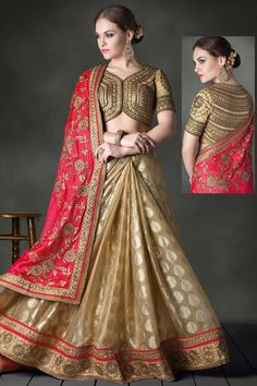 Deep Cerise Pink and #Cream Yellow #BangaloriSilk and Faux Georgette Embroidered Party Saree Sku Code: 223-6614SA360634 US $81.00 http://www.sareez.com/deep-cerise-pink-and-cream-yellow-bangalori-silk-and-faux-georgette-embroidered-party-saree.html