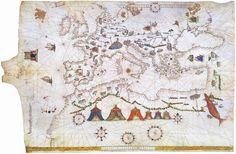 Portulan de Vesconte Maggiolo (1541) Europe, Méditerranée et Afrique du Nord