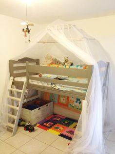Fresca e allegra: MARTA zanzariera per letto a castello in un'ambientazione in Martinica - #zanzariera #bambini #Grigolite