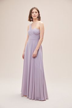 This elegant one-shoulder bridesmaid dress combines modern shine with a soft, romantic twist. A structured crepe-back satin bodice is paired with an ethereal chiffon skirt. Available in Sydney, Melbourne & Online. One Shoulder Bridesmaid Dresses, Bridesmaids, Strapless Dress Formal, Formal Dresses, Wedding Dresses, Melbourne Wedding, Chiffon Skirt, Ethereal, Sydney