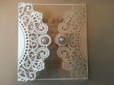 Gatsby laser cut Wedding Invitation in by CrystalCoutureinvite