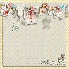 """Digital Scrapbook page created by cnscrap featuring """"I'll Love You Forever"""" by Sahlin Studio"""