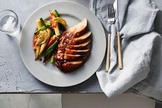 Chinese roasted pork with baby corn and chilli