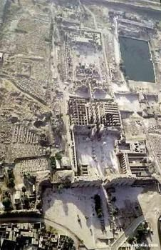 Aerial view Temple of Karnak Luxor (Thebes), Egypt