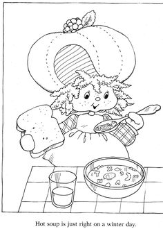 Vintage Kenner / American Greetings Strawberry Shortcake - Strawberry Shortcake's Winter  Fun Coloring Book - Back Cover _____________________________ (Purchased from Etsy as a digital book, but I'm 99% certain it was taken from Bonnie Jones' Picasa, and the Etsy seller just left out the coloured pages.  https://picasaweb.google.com/116132144965793723825/ColoringBookStrawberryShortcakeSWinterFunColoringBook?noredirect=1)