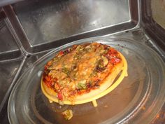 the pizza which i made ,,,,and it made every one to run away