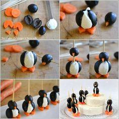 Penguin finger food - fyrir krakkana eða bara smá húmor!