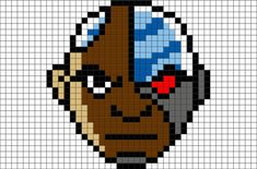 Teen Titans Cyborg Pixel Art