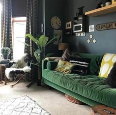 Green Couch Living Room Sofa Dark Best Couches Ideas On Design