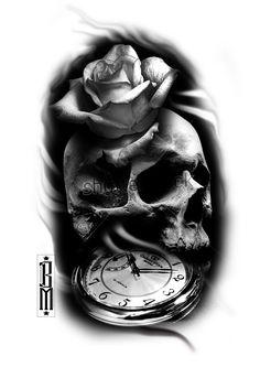 Resultado de imagem para desenhos de rosas para tatuar