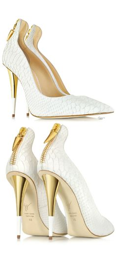 Giuseppe Zanotti Croco Embossed Leather Pumps - I'd never take them off. Hot Shoes, Crazy Shoes, Me Too Shoes, Women's Shoes, Shoe Boots, Platform Shoes, High Heels Boots, High Heels Stiletto, Gold Heels