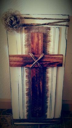Rustic Shabby Cross by PumpkinVineHollow on Etsy
