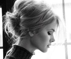 Bun up-do...who knew a bun could be so darling and fresh?