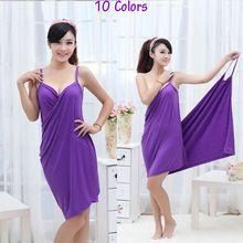 New Style femmes magique serviette de bain 140 * 70 CM Lady blazers vêtements de nuit femmes Summer Beach Strap robe solide 10 couleurs Cover - ups