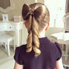 Join Beth of Sweethearts Hair Design as she teaches how to make the perfect hair bow hairstyle! >>> You can find out more details at the link of the image. Cute Girls Hairstyles, Flower Girl Hairstyles, Ponytail Hairstyles, Trendy Hairstyles, Beautiful Hairstyles, Hairstyle Short, Hairstyle Ideas, Childrens Hairstyles, Child Hairstyles