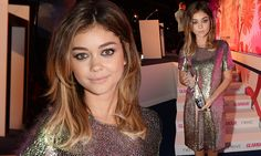 Glamour awards: Sarah Hyland dazzles in iridescent sequined dress