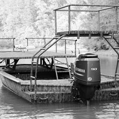 Bowfishing boat with raised platform fisher woman for Bow fishing platform