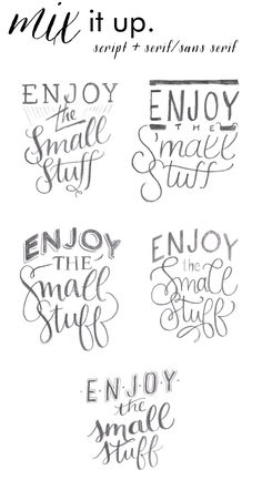alisaburke: lettering with makewells: crafting phrases
