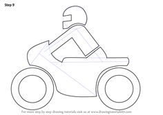 Learn How to Draw a Motorcycle for Kids (Two Wheelers) Step by Step : Drawing Tutorials Cute Cartoon Drawings, Easy Drawings, Film Up, Kids Motorcycle, Cool Animations, Animation Film, Drawing For Kids, Learn To Draw, Motorbikes