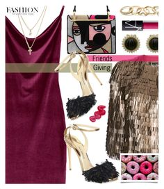 """""""Gather 'Round: Friendsgiving"""" by tinkabella222 ❤ liked on Polyvore featuring Salvatore Ferragamo, Paul Andrew, LOFT, GUESS, NARS Cosmetics, Prada, Australis and friendsgiving"""
