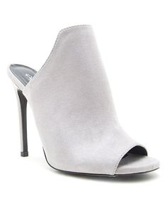 Take a look at this Qupid Light Gray Diamond Peep-Toe Pump today!