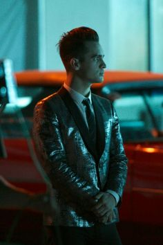 "Brendon Urie on set on ""Miss Jackson"" music video"