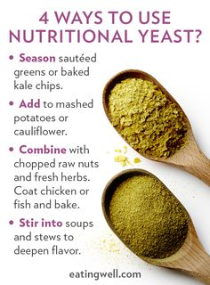 Nutritional yeast has long been used by vegans as a naturally dairy-free cheese substitute because of its nutty, earthy, umami qualities.