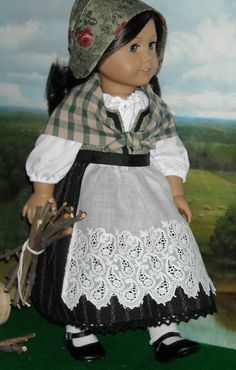 I love this Celtic traditional outfit!  Created by Sugarloaf Doll Clothes, sold on Etsy.