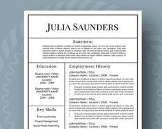 Reference Page Resume Template Amazing Modern Resume Template For Word 13 Page Resume  Cover Letter  .