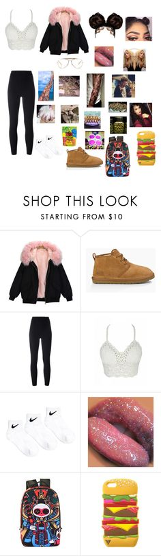 """""""We Get High🤤😷😈"""" by cocorai ❤ liked on Polyvore featuring UGG Australia, Yeezy by Kanye West, NIKE and CÉLINE"""