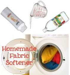 Homemade Fabric Softener – I have heard that fabric softner has chemicals that are bad for you however we have ultra hard water here....and I like laundry that smells fresh.  I will try this.