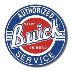 Vintage Cars Muscle Buick Service Round Tin Sign Nostalgic Metal Sign Retro Home Garage Decor - Car Signs, Garage Signs, Garage Art, Garage Interior, Garage Shop, Car Garage, Retro Vintage, Vintage Cars, Vintage Style