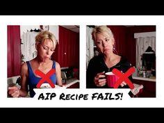 AIP Recipe FAILS! - YouTube Paleo Autoimmune Protocol, Autoimmune Disease, Aip Recipe, Food Fails, Aip Diet, Rheumatoid Arthritis, Multiple Sclerosis, Health And Wellness, Healthy Living
