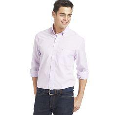 Men's IZOD Classic-Fit Solid Button-Down Shirt, Size: