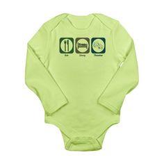 Eat Sleep Ride Long Sleeve Newborn Baby Romper Jumpsuit Onsies for 6-24 Months Bodysuit