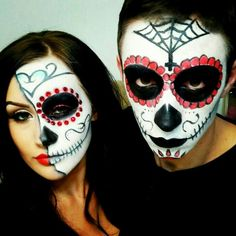Dead Bride Halloween costume idea - half skull face. Makeup used ...