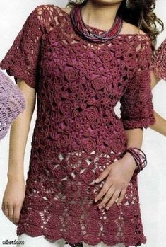 Fabulous Crochet a Little Black Crochet Dress Ideas. Georgeous Crochet a Little Black Crochet Dress Ideas. Crochet Bolero, Gilet Crochet, Crochet Tunic, Form Crochet, Crochet Woman, Irish Crochet, Crochet Clothes, Crochet Lace, Crochet Flowers