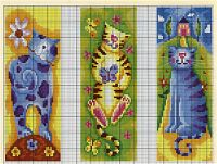 "Cross-stitch Bookmarkers.. Cats, part 2...    color chart available on pin ""Cross-stitch Bookmarkers.. Cats, part 1.     Gallery.ru / Фото #22 - закладки и что может быть ими - irisha-ira"