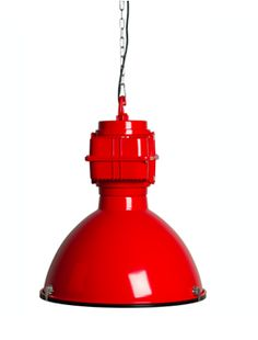 Zuiver Hanglamp Vic industrielamp rood