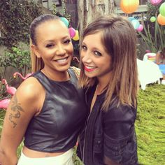 Backstage with my bestie Mel B at the Voice Grand Finale