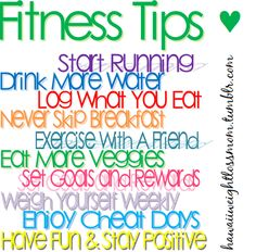 Fitness Tips - These REALLY work!  ( I weigh 2-3 times per week to keep myself in check too. If I don't, 10 pounds can creep up fast!)