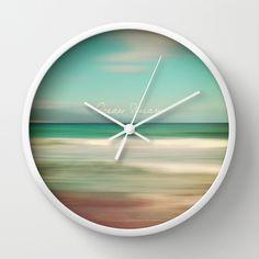 Ocean Dream IV Wall Clock by Pia Schneider [atelier COLOUR-VISION] - $30.00
