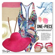 """""""Abstract swimsuit"""" by ansev ❤ liked on Polyvore featuring Dorothy Perkins and Boohoo"""