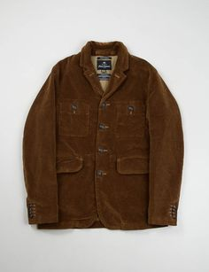 Nigel Cabourn- Brown 8 Wale Cord Atkinson Jacket (Made in the USA)