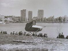 Jazero Štrkovec - keď ešte nestál hotel Junior. V popredí kočík Favorit z NDR :-)