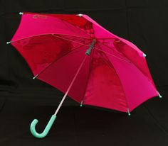Barbie umbrella from the inside.