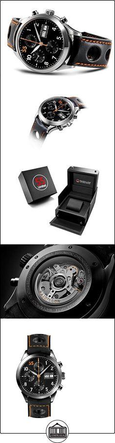 raidillon Casual Friday Reloj Automático para Hombre con cronógrafo y negro correa de piel 38-cat-091  ✿ Relojes para hombre - (Lujo) ✿